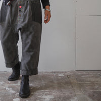 Vintage french stripe canvas trousers.