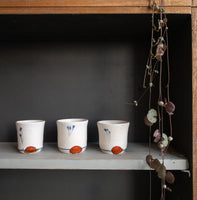 White earthenware espresso cups