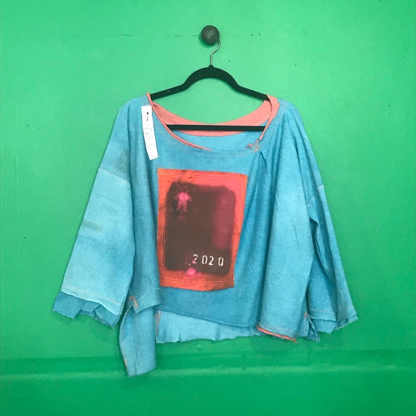 Teal Jersey space top