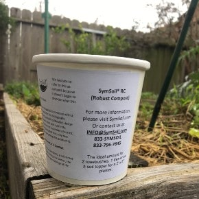 Sample - SymSoil® V50 (Robust Compost & Fungal Infused Biochar) 1 cup