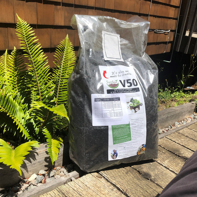SymSoil® V50  (Robust Compost & Fungal Infused Biochar)