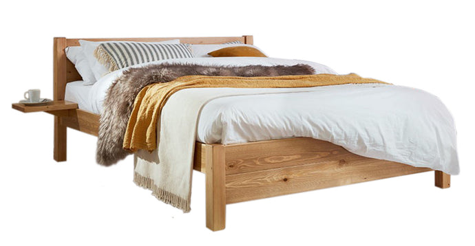 Aurora Oak Double Bed- Monty Space Rental Bed