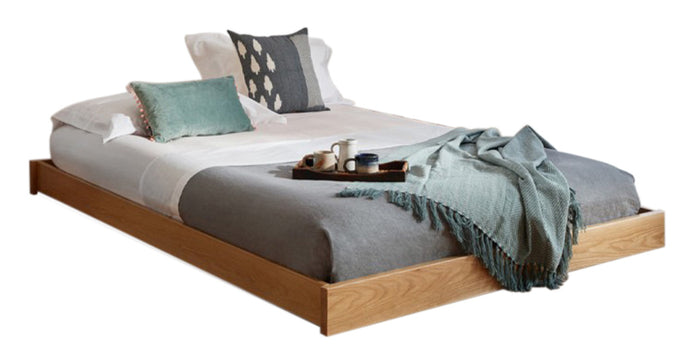 Enkel Double Bed Oak- Monty Space Rental