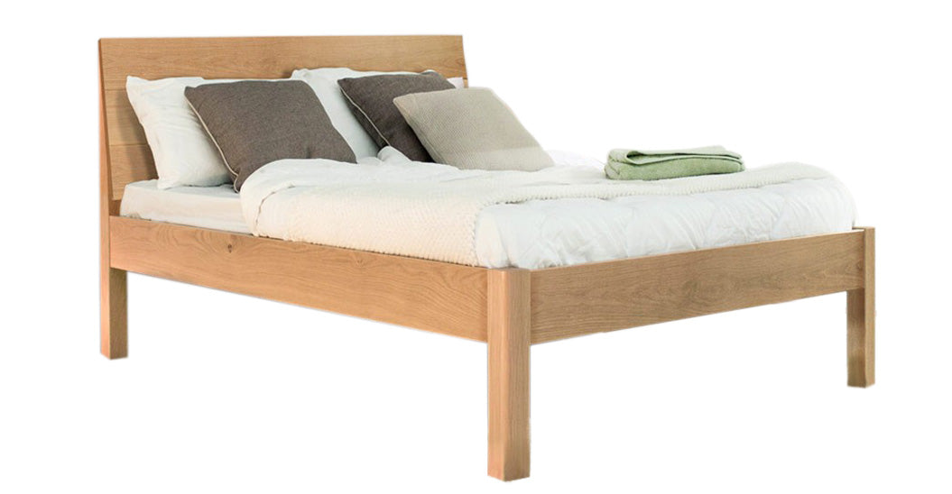 Kensington Double Bed Oak- Monty Space Rental