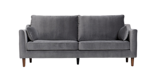 Luna Sofa, Grey Velvet