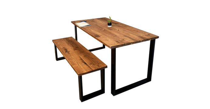 Reclaimed Wood Dining Table Box Legs- Table Rental