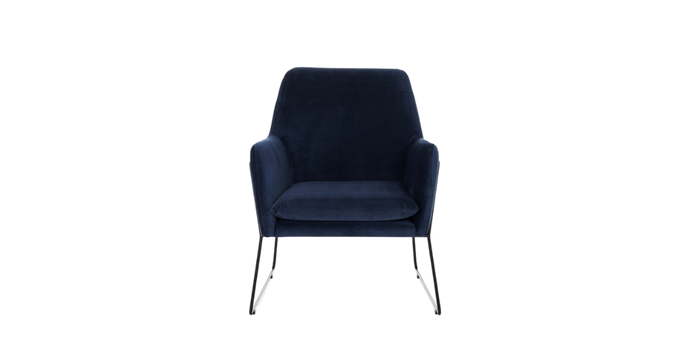 Sydney Occasional Chair, Navy velvet