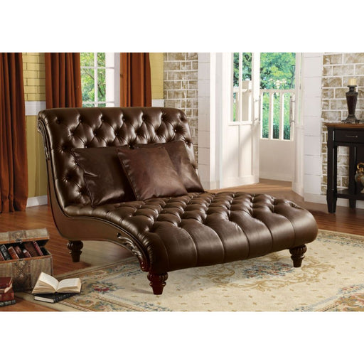 Anondale Chaise with 3 Pillows-Chaise-ACME-15035-ModLux_Living_furniture