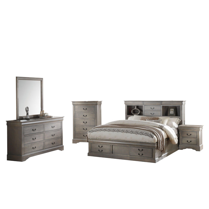 Louis Philippe III - Bed with Storage-Bed-ACME-ModLux_Living_furniture