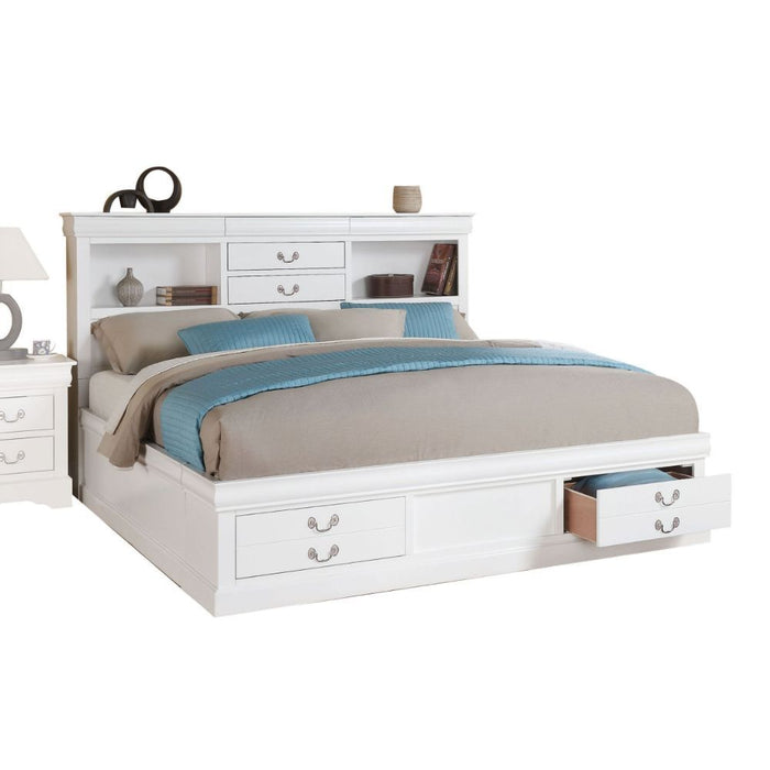 Louis Philippe III - Bed with Storage-Bed-ACME-24487EK-ModLux_Living_furniture