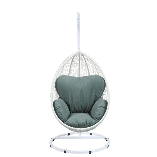 Simona Patio Swing Chair with Stand-Outdoor Chair-ACME-ModLux_Living_furniture