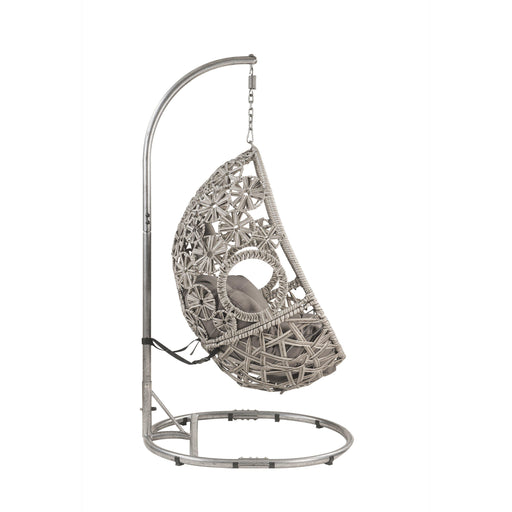 Sigar Patio Hanging Chair with Stand-Outdoor Chair-ACME-45107-ModLux_Living_furniture