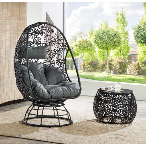 Hikre Patio Lounge Chair & Side Table-Outdoor Chair-ACME-45113-ModLux_Living_furniture