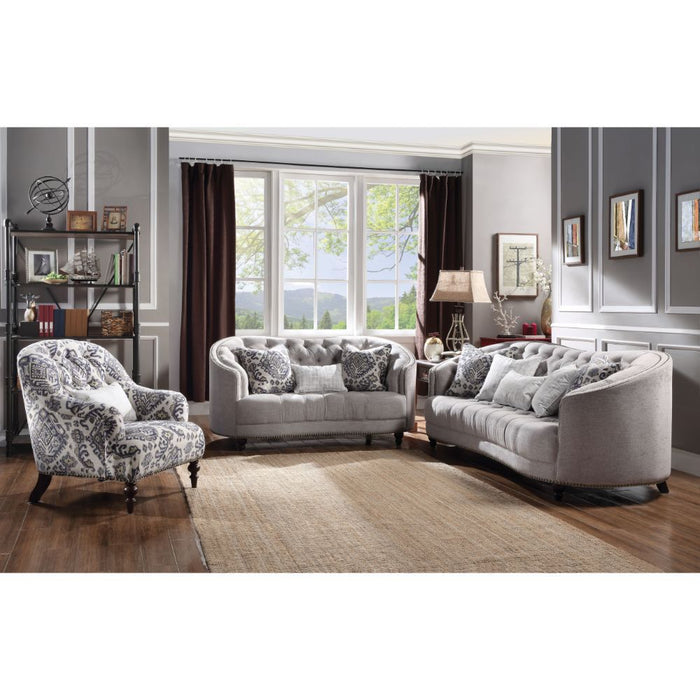 Saira Loveseat (with 3 Pillows)-Loveseat-ACME-52061-ModLux_Living_furniture