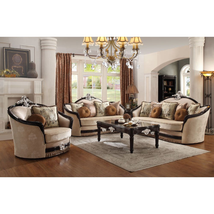 Ernestine Loveseat (with 6 Pillows)-Loveseat-ACME-52111-ModLux_Living_furniture