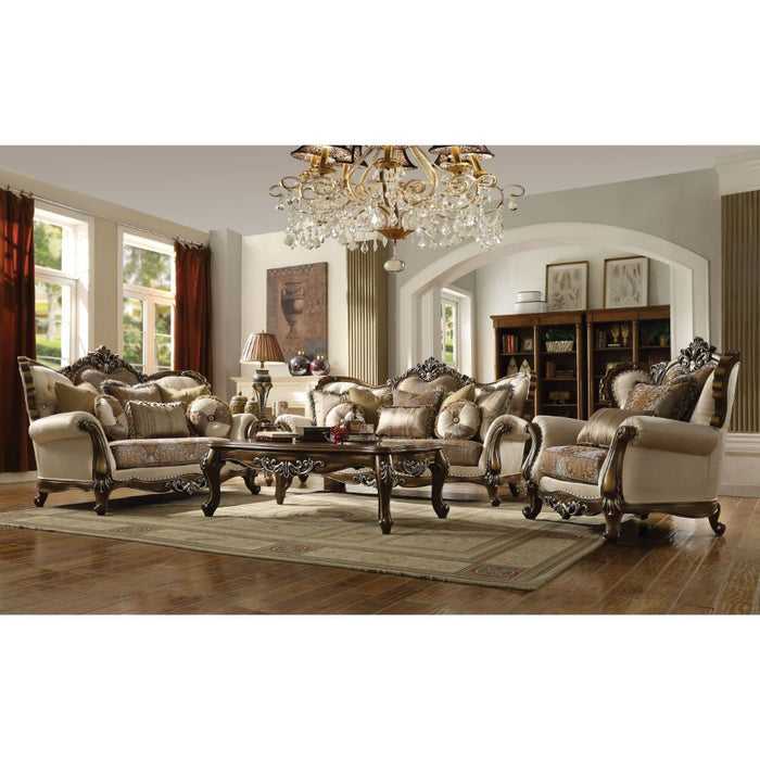 Latisha Loveseat (with 5 Pillows)-Loveseat-ACME-52116-ModLux_Living_furniture