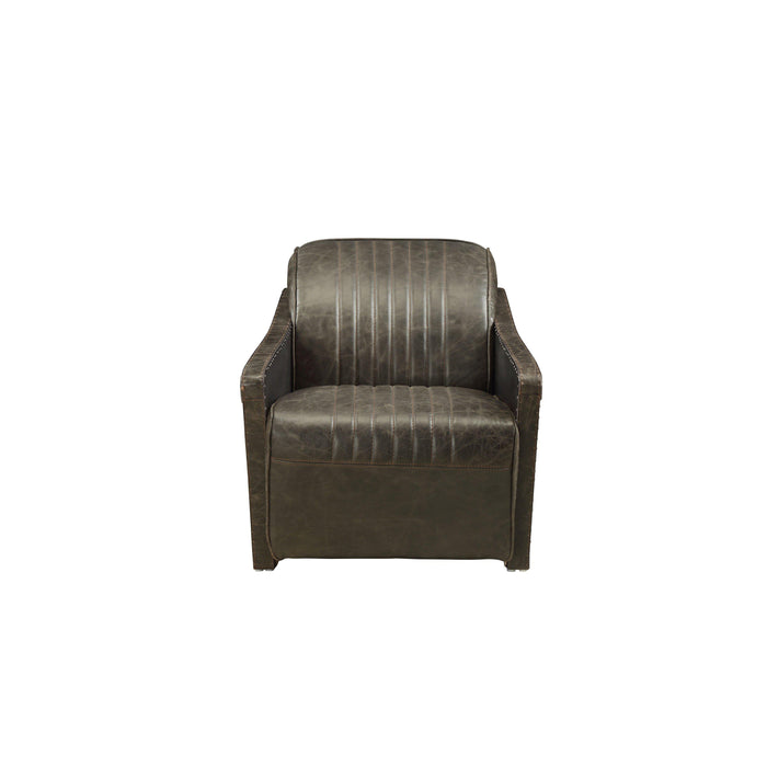 Winchester Leather Arm Chair-Accent Chair-ACME-52437-ModLux_Living_furniture