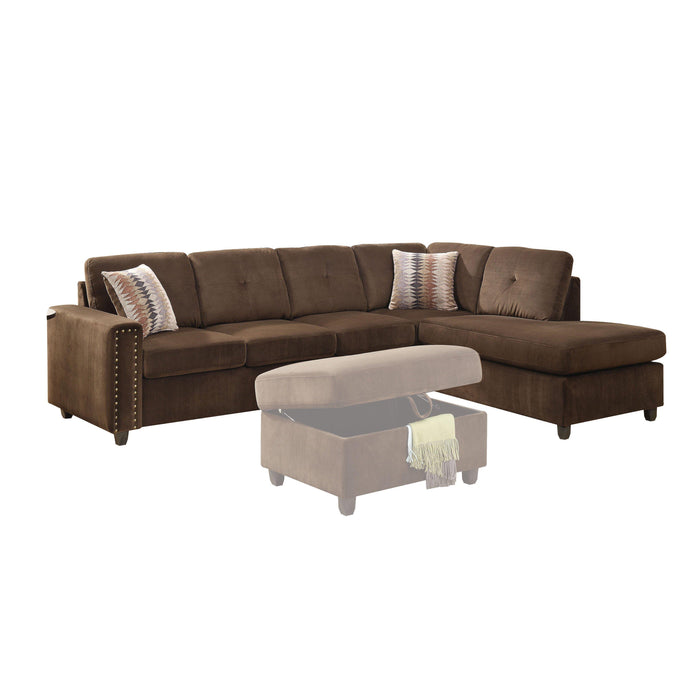 Belville Sectional Sofa (Reversible with Pillows)-Sectional-ACME-52700-ModLux_Living_furniture