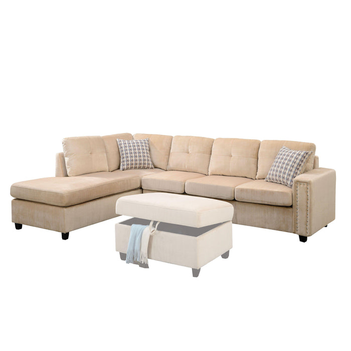Belville Sectional Sofa (Reversible with Pillows)-Sectional-ACME-52705-ModLux_Living_furniture