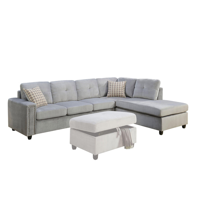 Belville Sectional Sofa (Reversible with Pillows)-Sectional-ACME-52710-ModLux_Living_furniture
