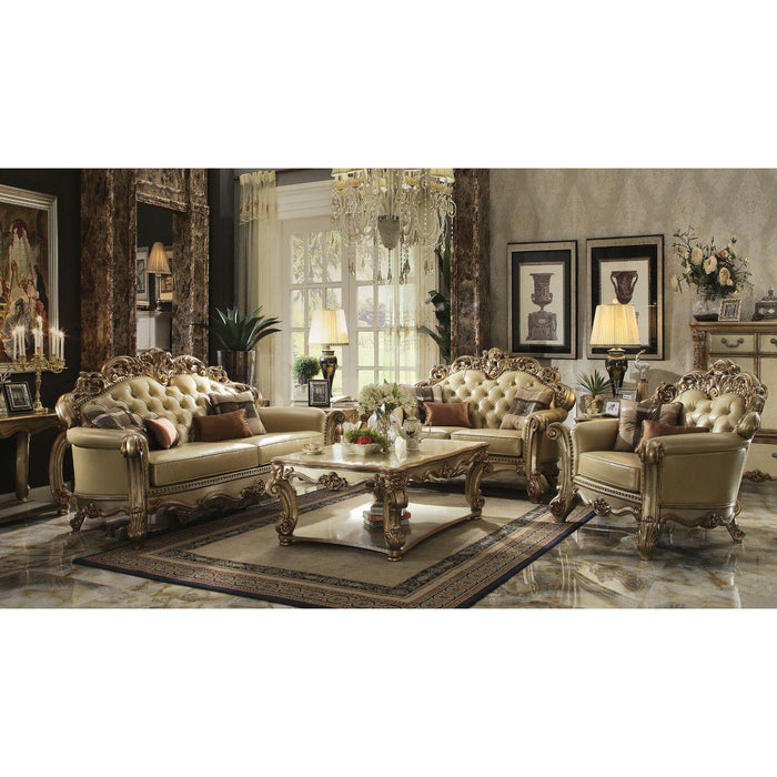 Vendome Loveseat (with 3 Pillows)-Loveseat-ACME-53001-ModLux_Living_furniture