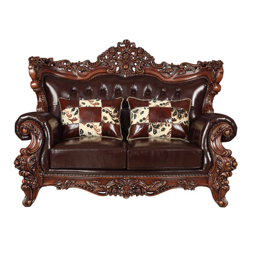 Forsythia Loveseat (with 2 Pillows)-Loveseat-ACME-53071-ModLux_Living_furniture