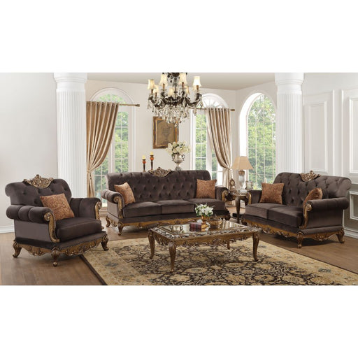 Orianne Loveseat (with 2 Pillows)-Loveseat-ACME-53796-ModLux_Living_furniture