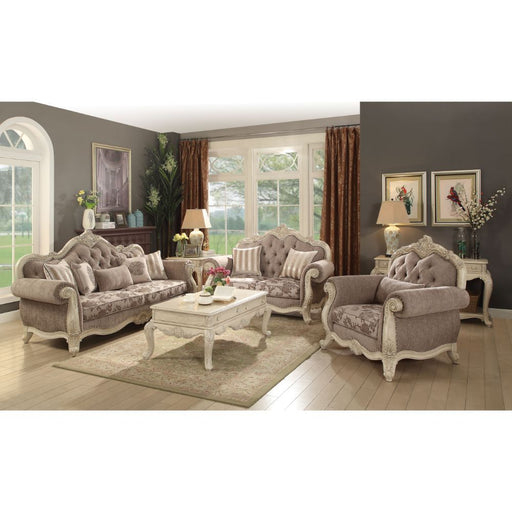Ragenardus Loveseat (with 2 Pillows)-Loveseat-ACME-ModLux_Living_furniture