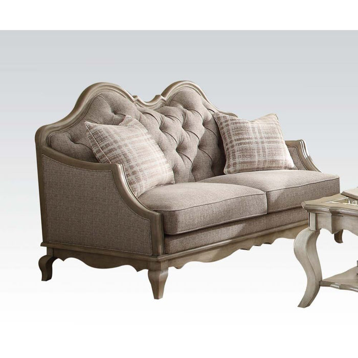 Chelmsford Loveseat (with 2 Pillows)-Loveseat-ACME-56051-ModLux_Living_furniture