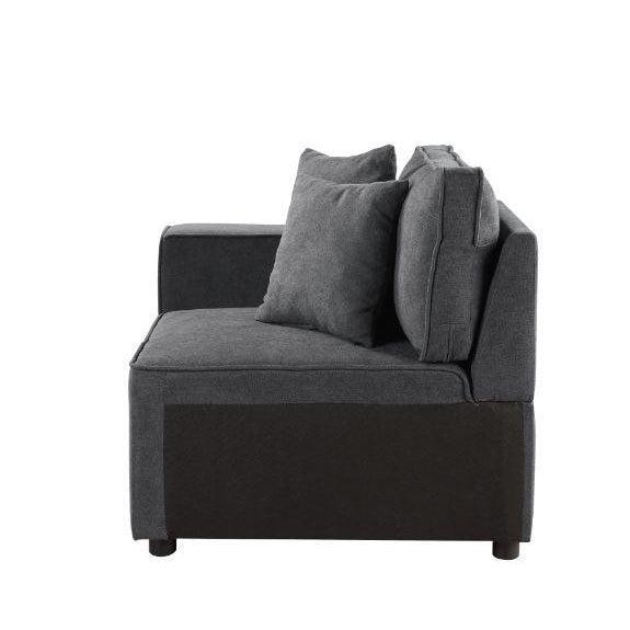 Silvester Modular Chair with 2 Pillows-Sectional-ACME-ModLux_Living_furniture