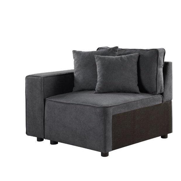 Silvester Modular Chair with 2 Pillows-Sectional-ACME-56871-ModLux_Living_furniture
