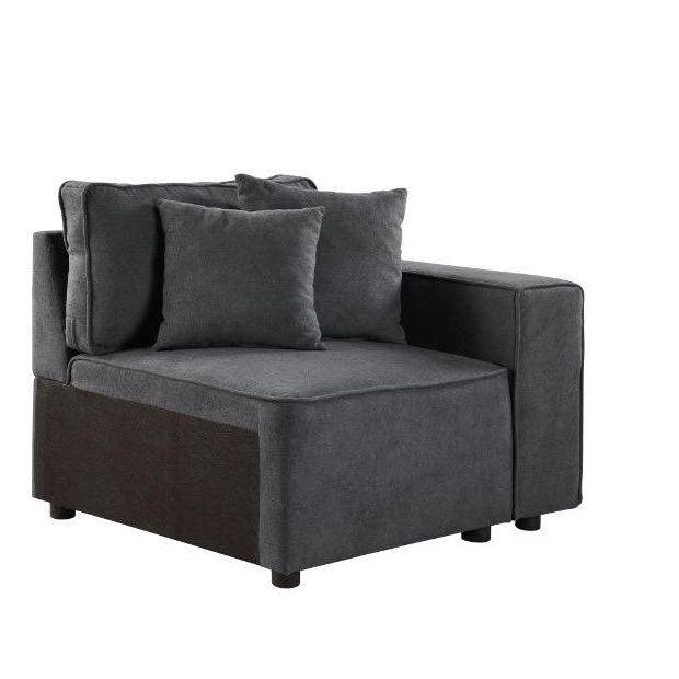 Silvester Modular Chair with 2 Pillows-Sectional-ACME-56872-ModLux_Living_furniture