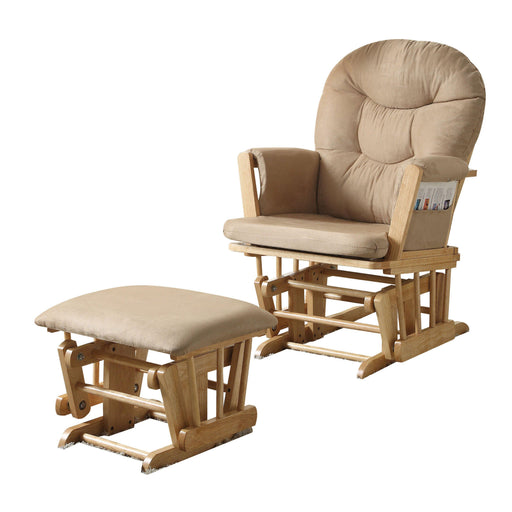 Rehan 2Pc Pk Glider Chair & Ottoman-Rocking Chair-ACME-59332-ModLux_Living_furniture