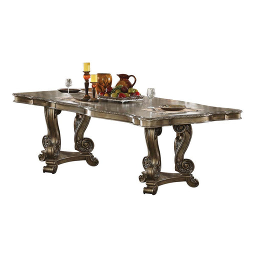 Ragenardus Dining Table with Double Pedestal-Dining Table-ACME-61290-ModLux_Living_furniture