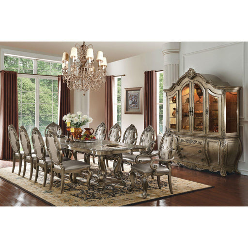 Ragenardus Dining Table with Double Pedestal-Dining Table-ACME-ModLux_Living_furniture
