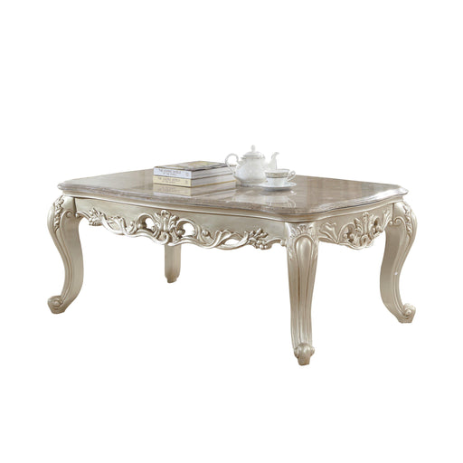 Gorsedd Coffee Table with Marble Top-Coffee Table-ACME-82440-ModLux_Living_furniture