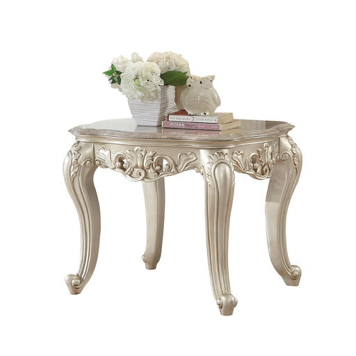 Gorsedd End Table with Marble Top-End Table-ACME-82442-ModLux_Living_furniture