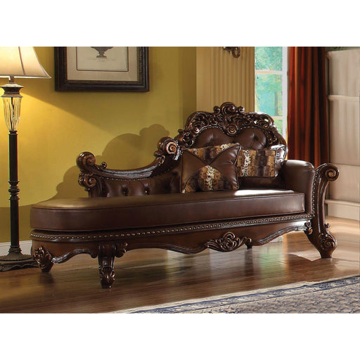 Vendome Chaise with 2 Pillows-Chaise-ACME-ModLux_Living_furniture
