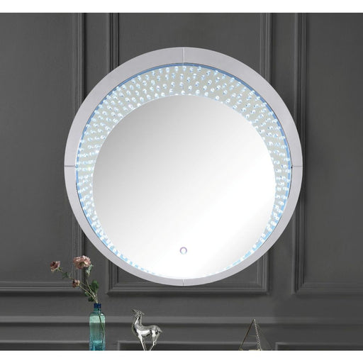 Nysa Wall Mirror (LED) Round-Mirror-ACME-97590-ModLux_Living_furniture
