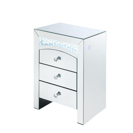 Nysa Accent Table (LED)-Nightstand-ACME-97655-ModLux_Living_furniture