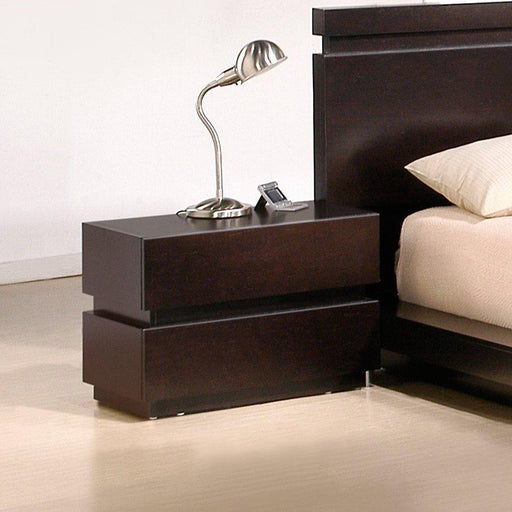 Knotch Night Stand-Nightstand-J&M-1754426-NS-ModLux_Living_furniture