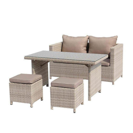Abbie Wicker 4 Piece Outdoor Patio Set-Outdoor Set-Whiteline-COL1692-BEI-ModLux_Living_furniture