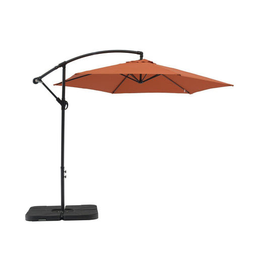 Aiden Outdoor Standing Umbrella-Umbrella-Whiteline-UM1683-ORG-ModLux_Living_furniture