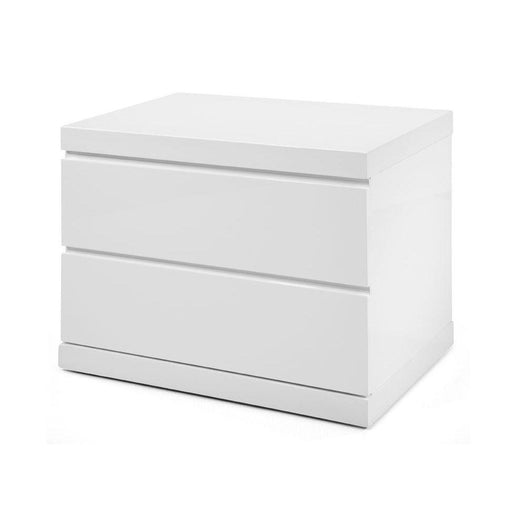 Anna Small Nightstand-Nightstand-Whiteline-NS1207S-WHT-ModLux_Living_furniture