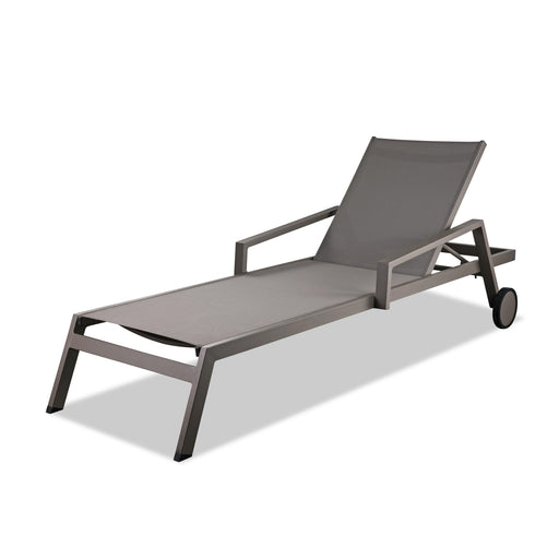 Bondi Outdoor Chaise Lounge (Set of 2)-Outdoor Chaise Lounge-Whiteline-CL1534-TAU-ModLux_Living_furniture