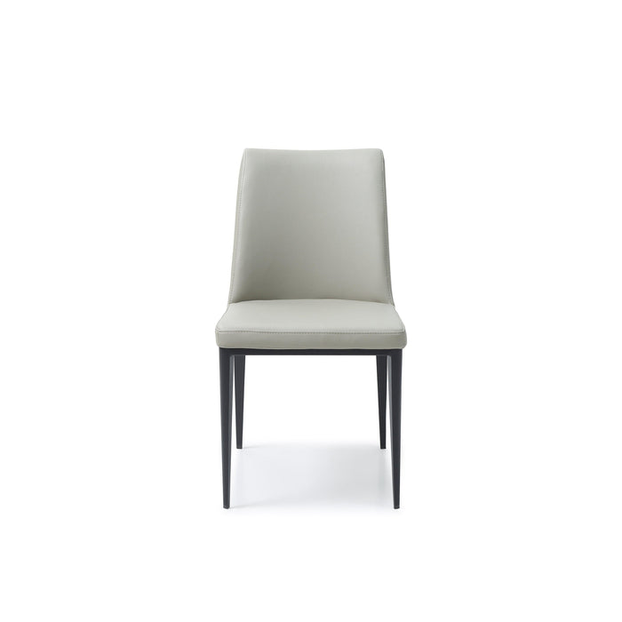 Carrie Dining Chair Light Grey Leather (Set of 2)-Dining Chair-Whiteline-DC1478-LGRY-ModLux_Living_furniture