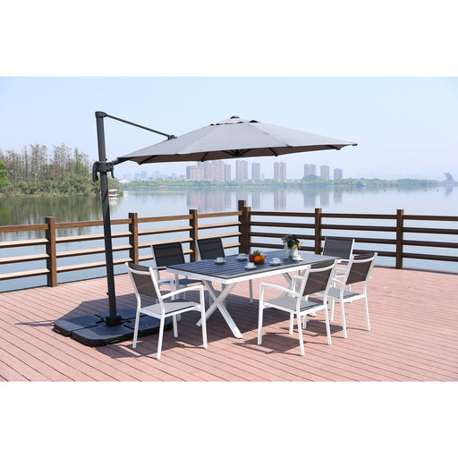 Climax Outdoor Standing Umbrella-Umbrella-Whiteline-UM1682-GRY-ModLux_Living_furniture
