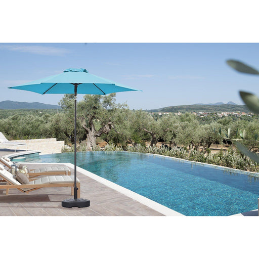 Eliana Outdoor Umbrella (Blue)-Umbrella-Whiteline-UM1694-BLU-ModLux_Living_furniture