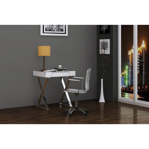 Elm Desk - Small (White)-Desk-Whiteline-DK1205S-WHT-ModLux_Living_furniture