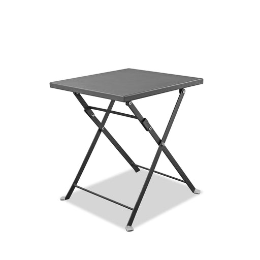 Flint Indoor/Outdoor Steel Side Table-Outdoor Side Table-Whiteline-ST1603-GRY-ModLux_Living_furniture
